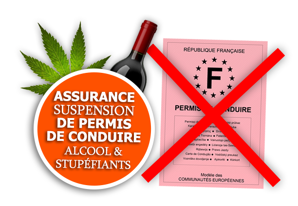 Assurance auto suspension retrait de permis alcool stupéfiants